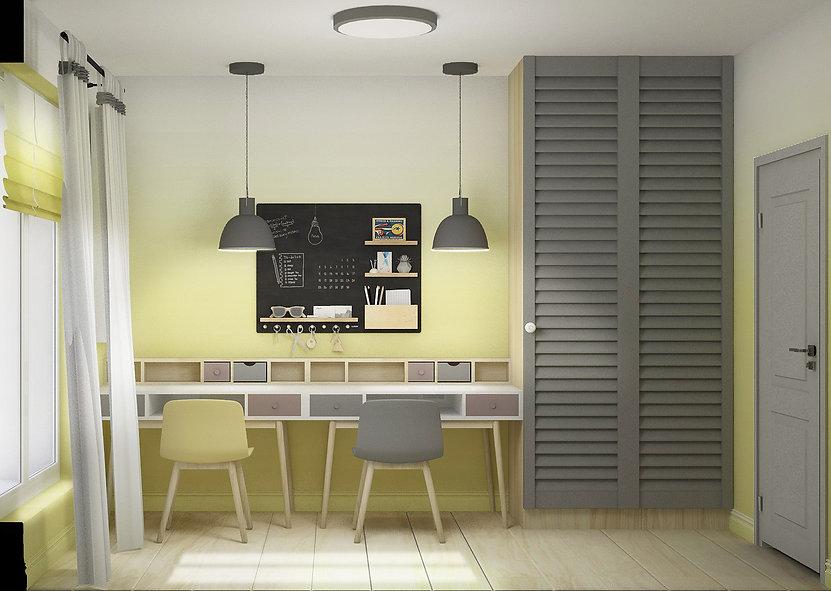 Pokój w stylu Ombre | Architekt wnętrz Gdańsk, Gdynia, Sopot | Dizain Rum