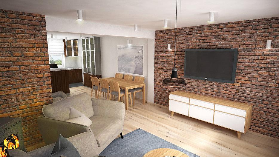 Fragment domu jednorodzinnego w Gdańsku Osowej | Architekt wnętrz Gdańsk, Gdynia, Sopot | Dizain Rum