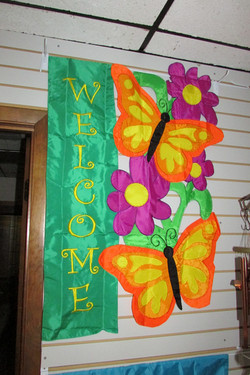 A butterfly welcome