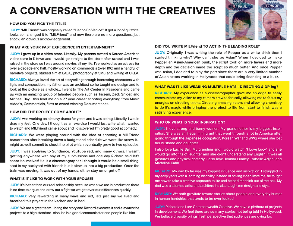 Conversastion with the creatives