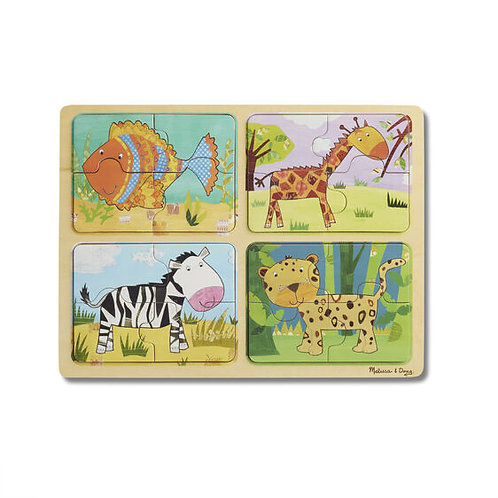 Animal Patterns Natural Wooden Puzzle
