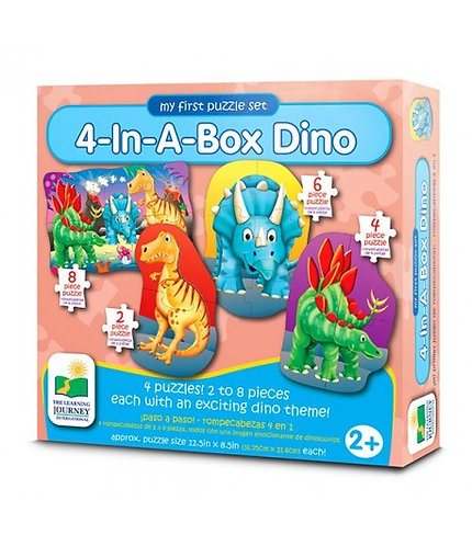 4-In-A-Box Dino Puzzles