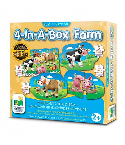 4-In-A-Box Farm Puzzles