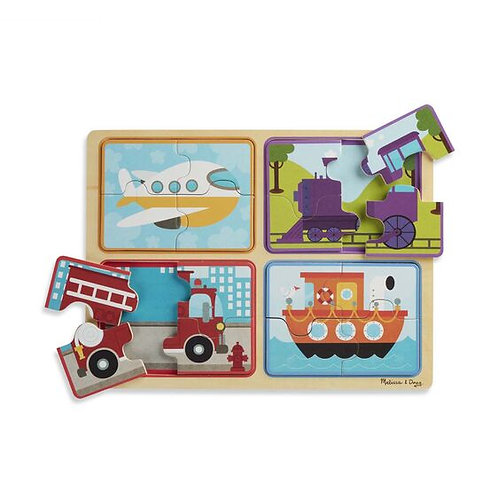 Ready, Set, Go Natural Wooden Puzzle