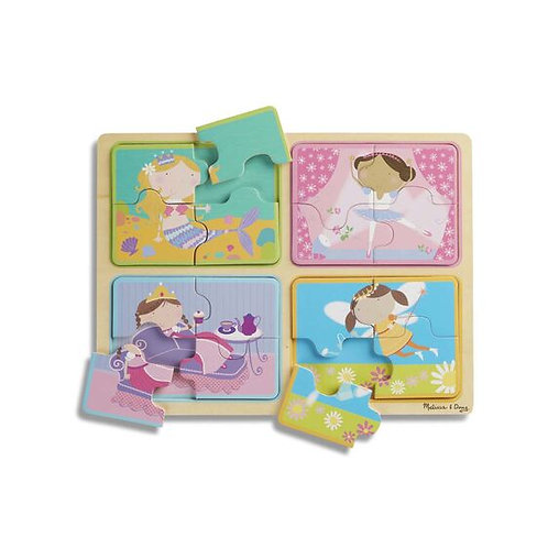 Little Princesses Natural Wooden Puzzle