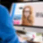 Developer looking on screen