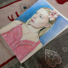 A4 Water Colour & Pencil Portrait ( Gift For Family)
