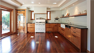 Taylor kitchen open floor wood cabinets