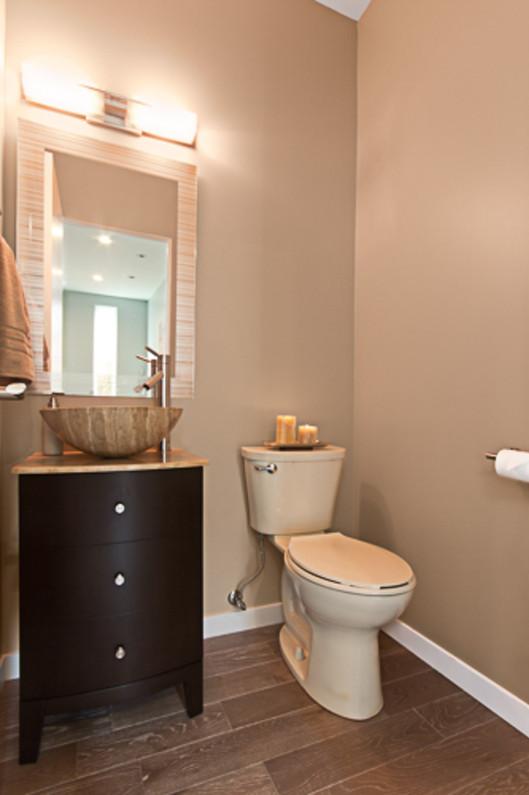 Contemporary - Orange - Powder Bath - 1
