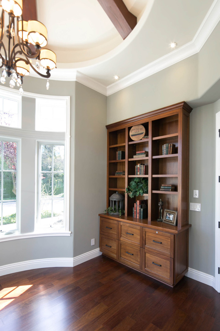 Transitional - Pine - Library - 1 - Afte