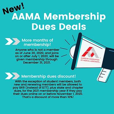 2020-2021 AAMA Membership Dues Deals Ins