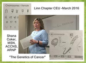 2016 March CEU speaker for Linn Chapter.