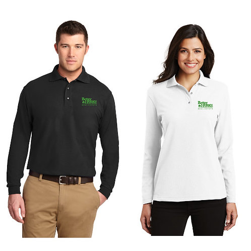 Port Authority Long Sleeve Silk Touch® Polo