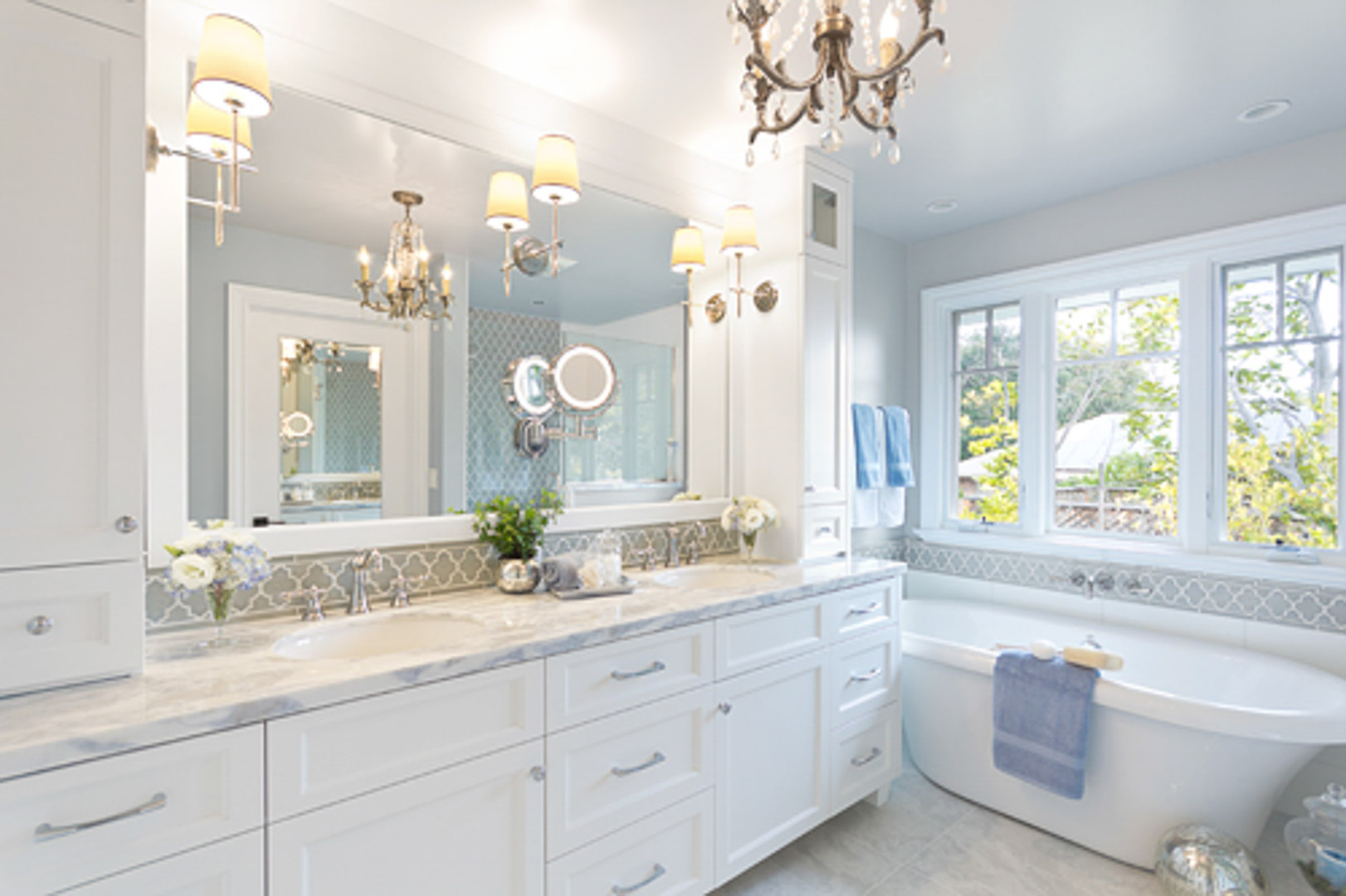 Transitional - Wild Oaks - Master Bath -