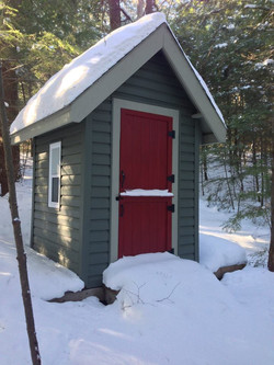 The Camp Outhouse in Winter