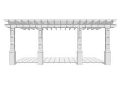 LARGE ARBOUR - 3D MODEL