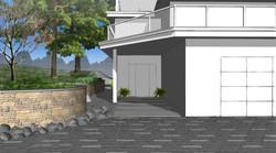 Modern Concrete Slab Entryway