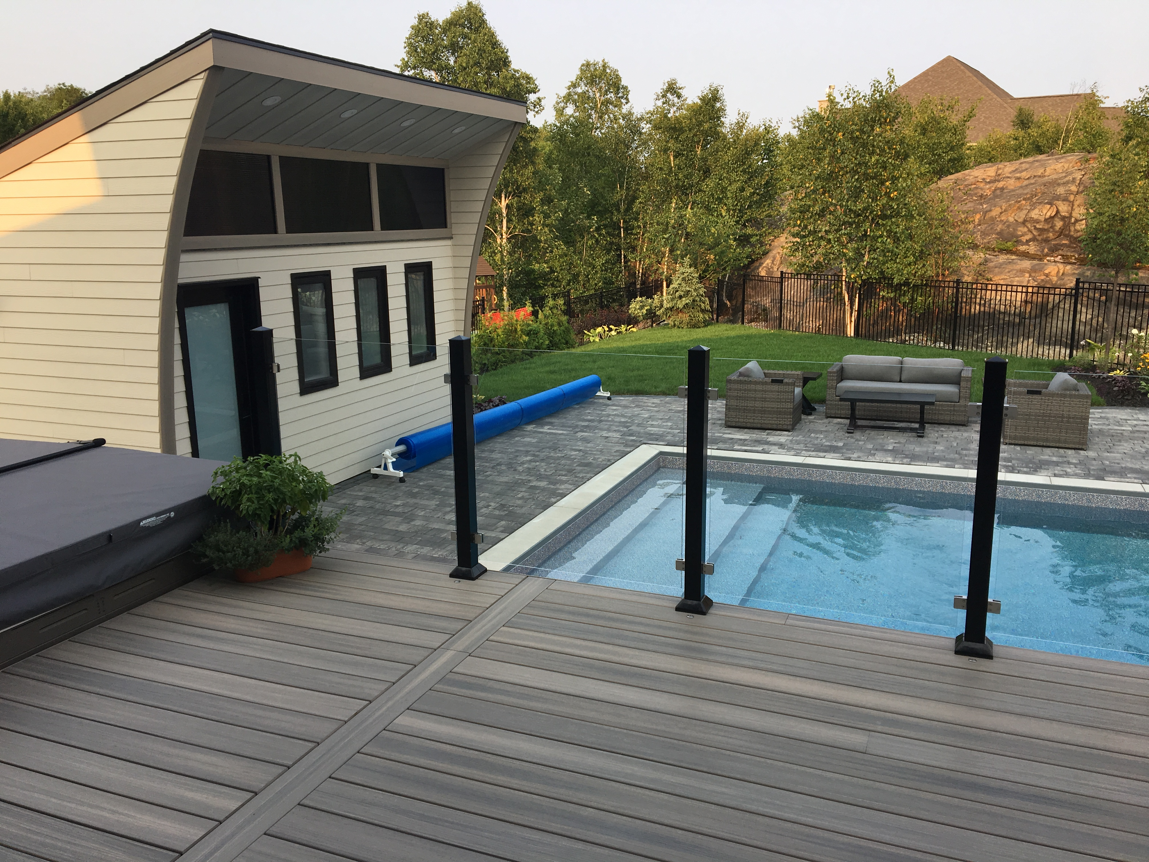 Deck view - pool house