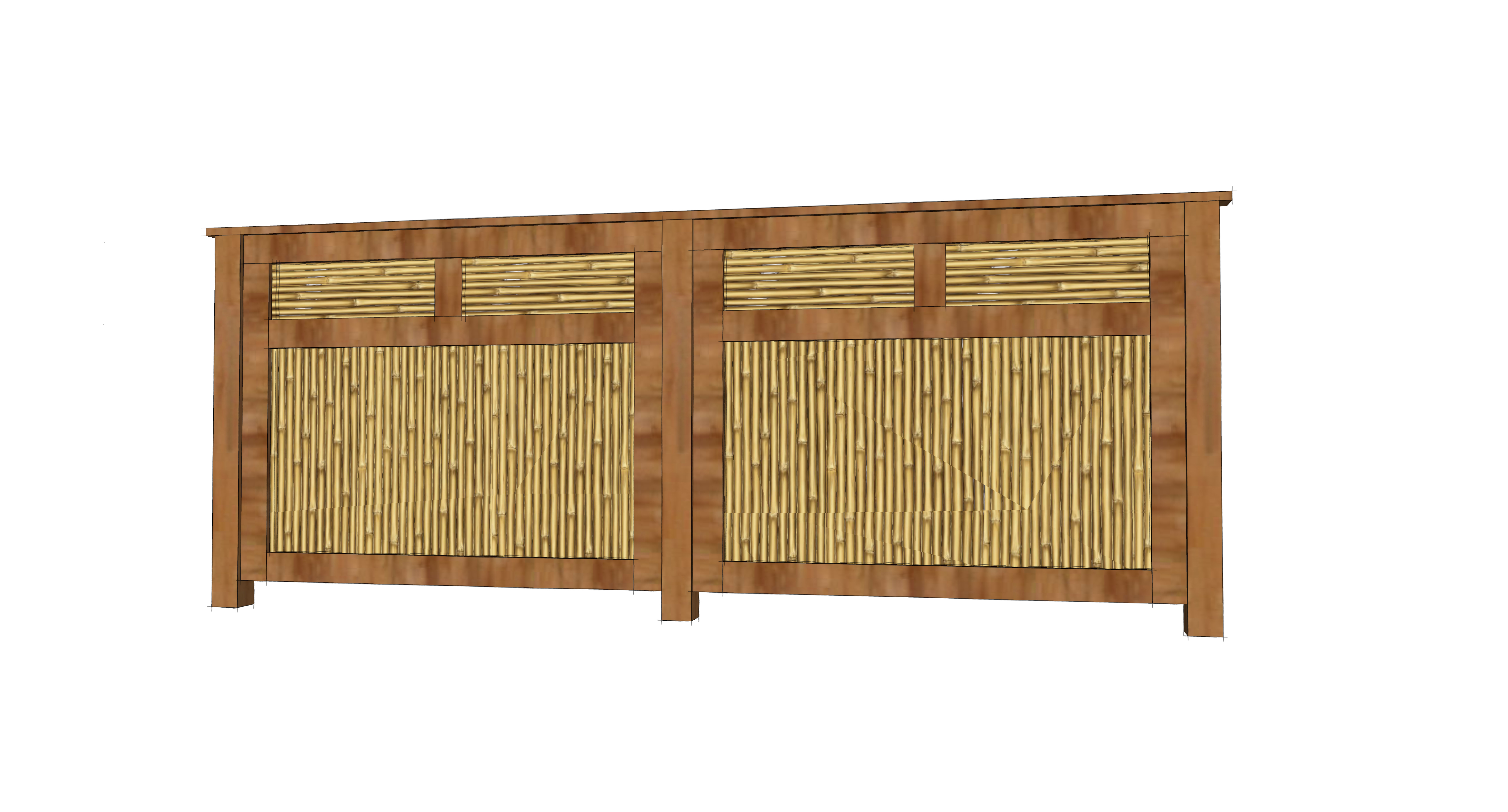 Bamboo Privacy Screen Draftroots Design