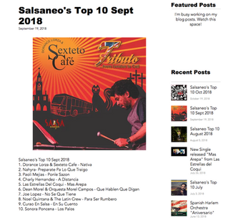 Salsaneo's Top 10 Sep 2018