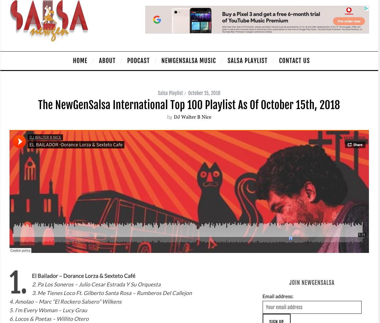 The NewGen Salsa International top 100 | Dorance Lorza