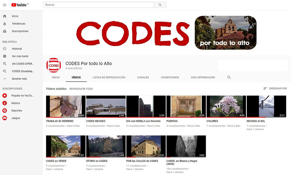 "CANAL YOUTUBE ""CODES POR TODO LO ALTO"""
