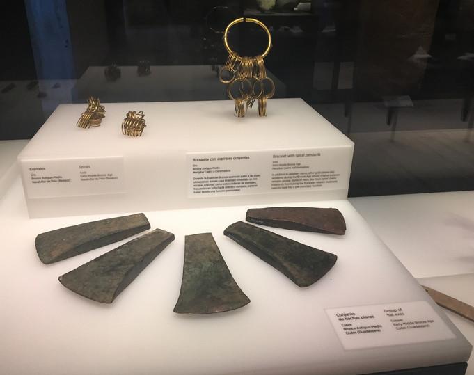 HACHAS DE BRONCE Museo Arqueológico Nacional Madrid