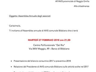 Convocazione Assemblea annuale 2018