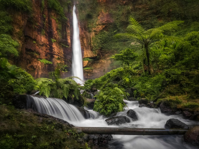 Kapas Biru Waterfall