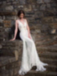 Lace and Shantung Wedding Dress