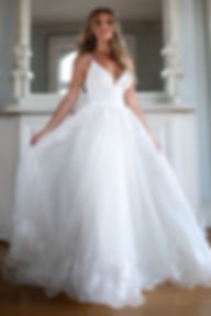 ball gown overskirt with lace