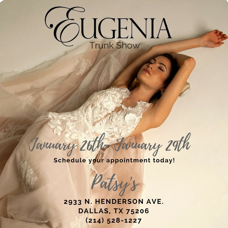Trunk Show at Patsy Bridal Boutique