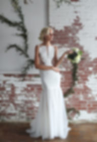 crepe cutout wedding dress Best seller, popular wedding dress