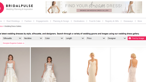 Bridal Pulse, A great way to find your dream dress
