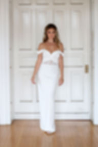 bridal sheath wedding dress off the shoulders