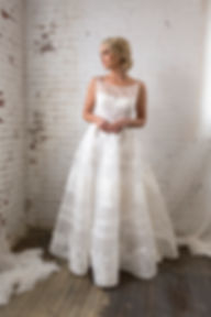Fit and Flare 3D lace wedding dress