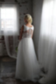 lace dress with crepe bodice wedding dress Best seller, popular wedding dress
