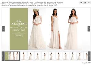 Inside Weddings Joy 2017 Collection