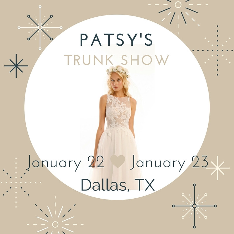 Patsy's, A Bridal Boutique Trunk Show