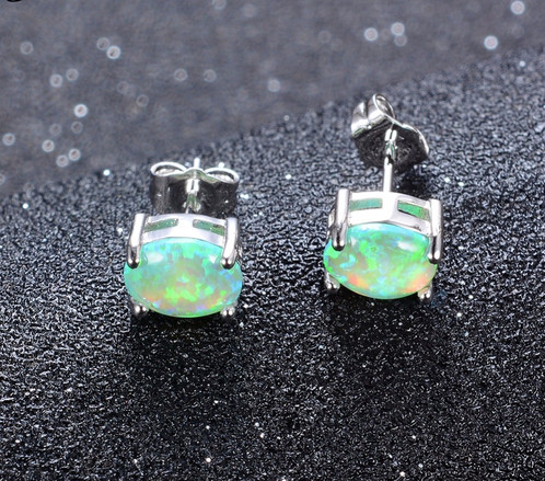 fashion item fire female earring black blue double jewelry small opal turtle filled gold junxin stud