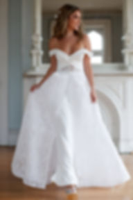 all lace wedding dress overskirt