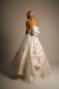 hand painted high low wedding dress