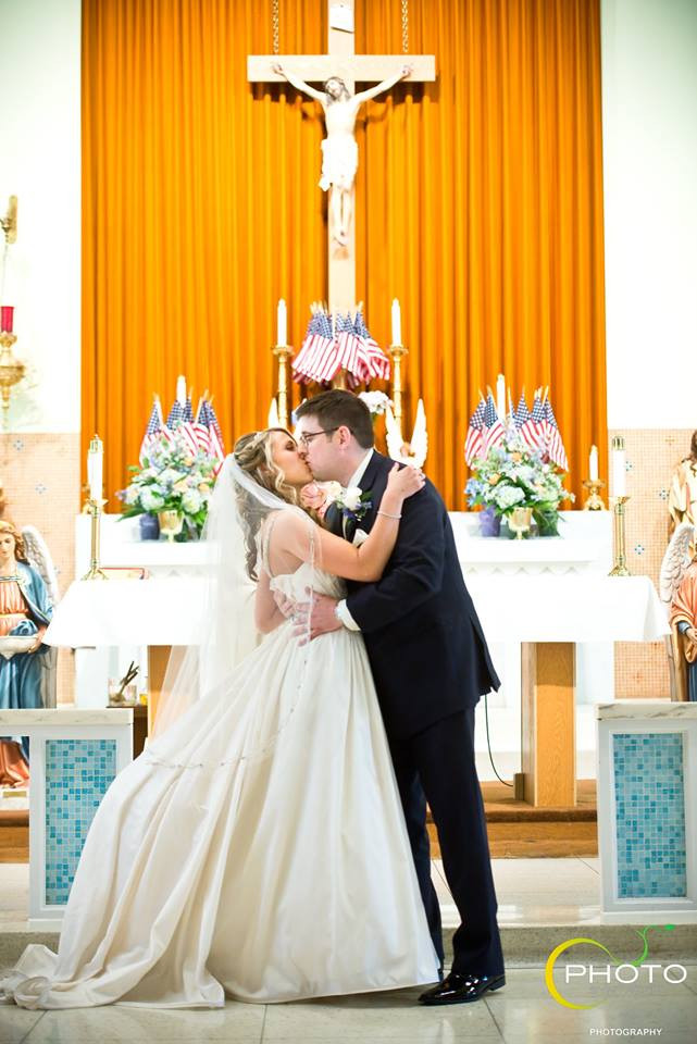 First Kiss as Husbandand Wife