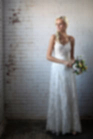spaghetti strap lace wedding dress Best seller, popular wedding dress