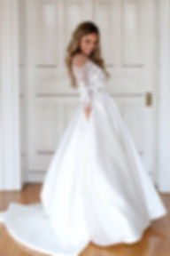 Wedding Dress with pockets ball gown mikado