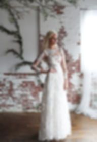 long sleeve lace a line dress Best seller, popular wedding dress