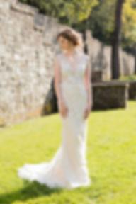 fit-n-flare wedding dress