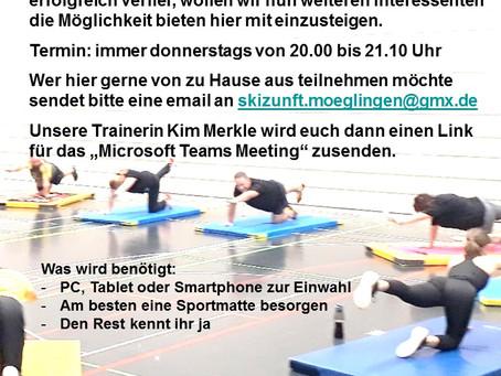 Fitnesstraining online mit der Skizunft Möglingen