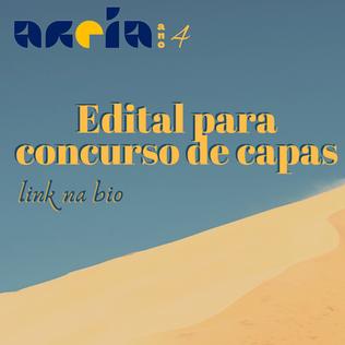 Edital de Concurso de Capa para Revista Areia