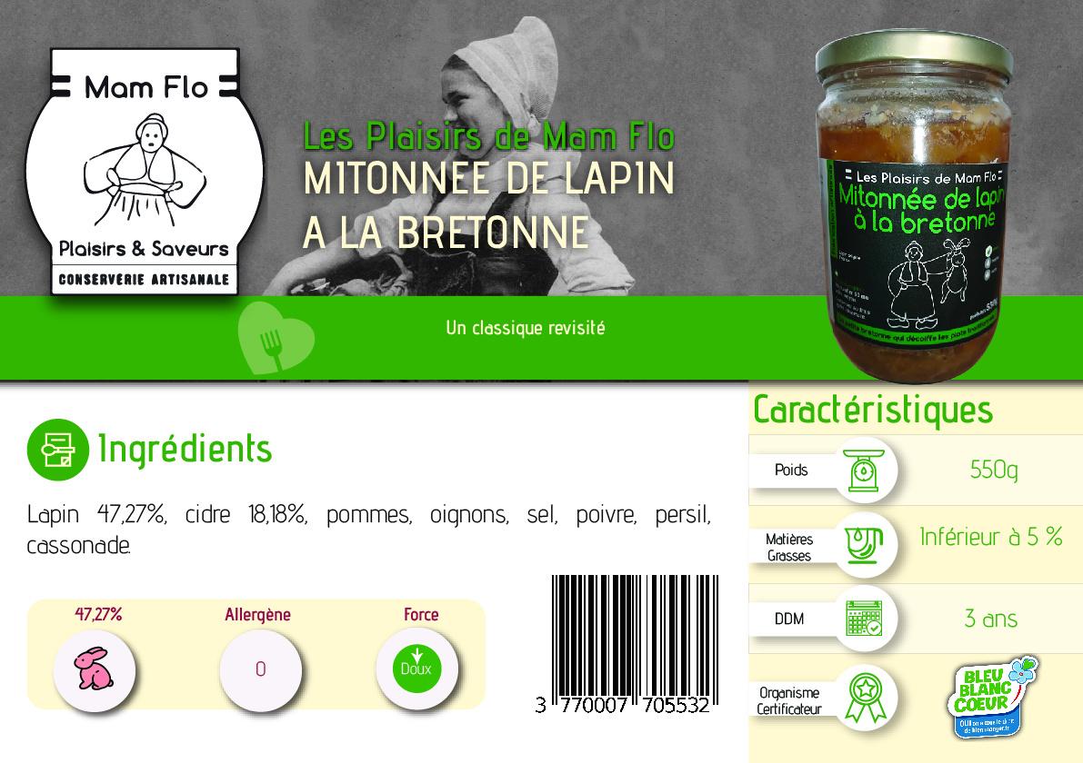mitonnée de lapin à la bretonne